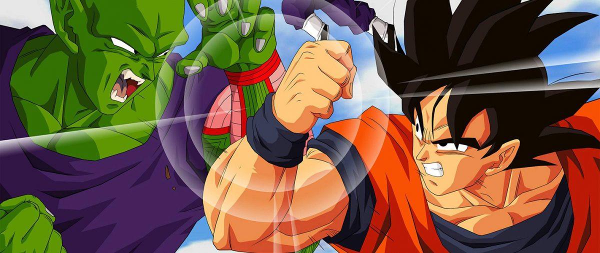 Dragonball Z Piccolo and Goku fighting